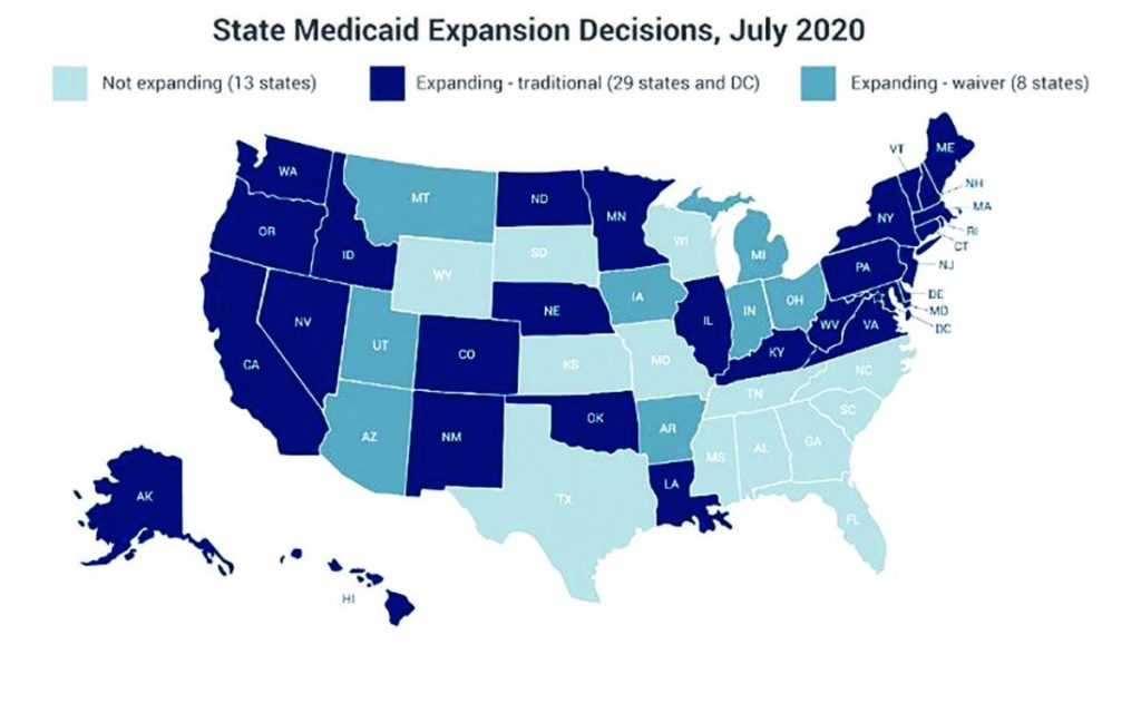 Medicaid Expansion Map Graphic