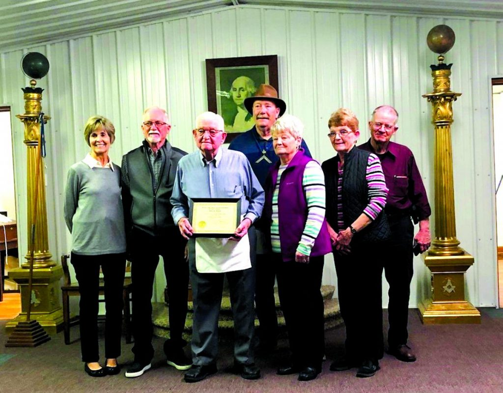 Robert Watkins 70 Year Masonic Pin